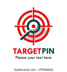Target pin logo template illustration, suiatble for app, mobile, medical, network, office, factory, industry, service etc