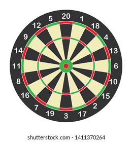 Target for playing darts. Vector illustration.