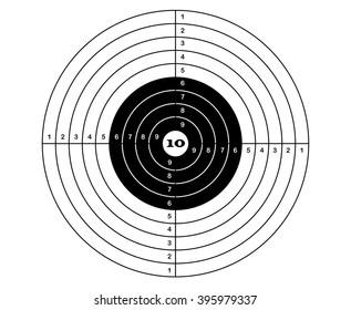 target rifle shooting. Vector sports