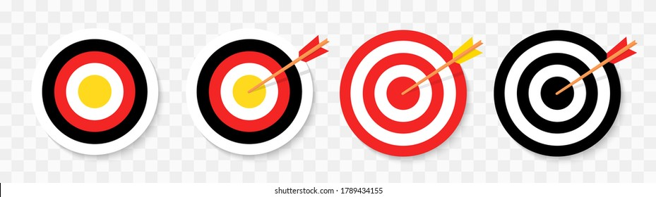 Target set icon. Vector sign