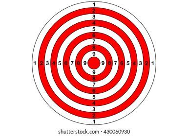 Target shooting gun sport rifle vector