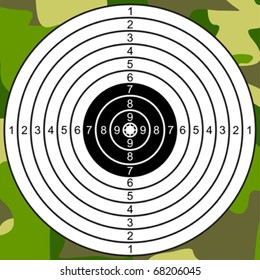 Target for Shooting on a Camouflage Background. Not Raked Target. JPEG version is available as ID 70841533. =