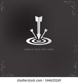 Target symbol on grunge background