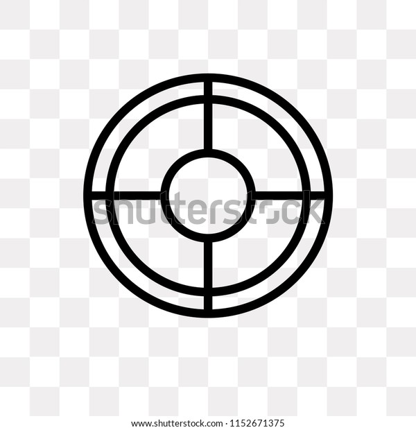 Target Vector Icon Isolated On Transparent Stock Vector