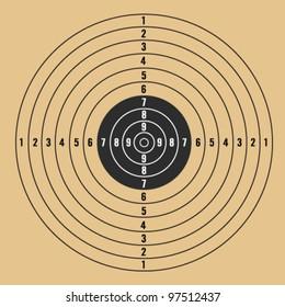 target vector illustration on light brown background