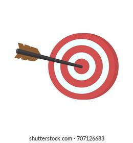 Target vector on white