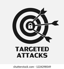 Targeted Attacks threat logo concept of cybercrime. Vector illustration technology concept design.