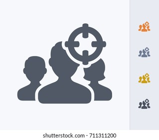 Targeted Demographics - Carbon Icons. A professional, pixel-aligned icon.