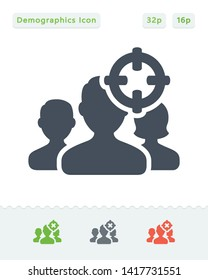 Targeted Demographics - Sticker Icons. A professional, pixel aligned icon.