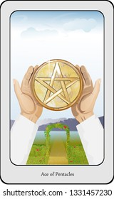 Ace of Pentacles Images, Stock Photos & Vectors | Shutterstock