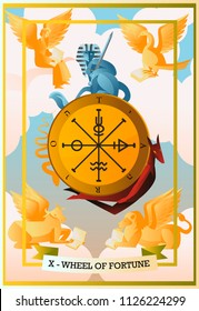 tarot card fortune wheel