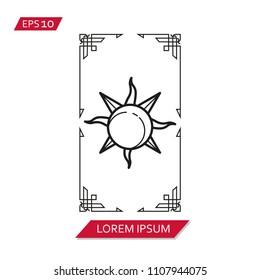 tarot cards vector icon symbol