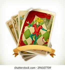 Tarot, vintage vector icon