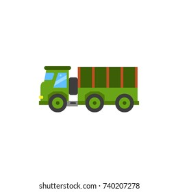 Tarpaulin Wagon Vector Icon