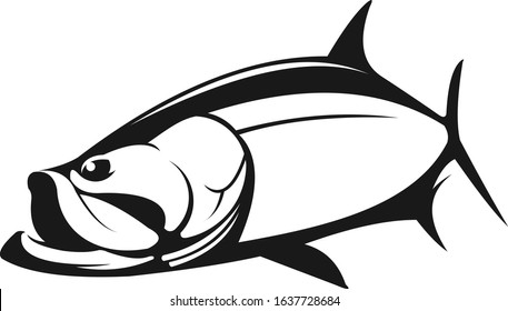 Tarpon fish Logo , Great for Tarpon Fishing template Shirts, decal Etc.