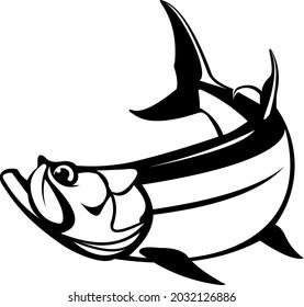 Tarpon Fish Logo Template. Fresh and Unique Tarpon fish movement. Great to use as tarpon Fishing activity.