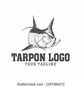 Tarpon Fishing logo tamplate