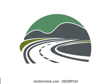 Tarred highway or road and sky disappearing into the distance near mountains