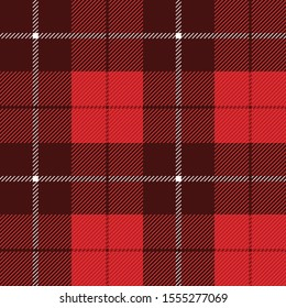 Tartan Check Plaid seamless patterns. Red Lumberjack Buffalo plaid. Rustic Christmas Backgrounds. Christmas tartan patterns. Repeating pattern tile swatches.