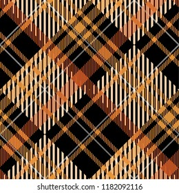 Tartan pattern,Scottish traditional fabric, orange tone background.