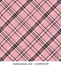 Tartan pattern,Scottish traditional fabric seamless, pink and black background,
