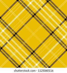 Tartan pattern,Scottish traditional fabric seamless, yellow tone.