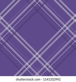 Tartan pattern,Scottish traditional fabric seamless. Purple and Ultra Violet on purple background,Pantone Style.