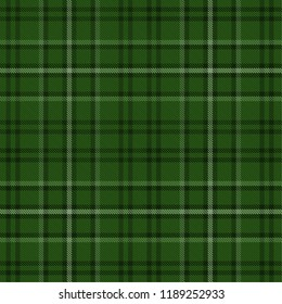 Tartan pattern,Scottish traditional fabric seamless, green background.