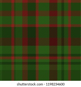 Tartan pattern,Scottish traditional fabric seamless, green and red background.