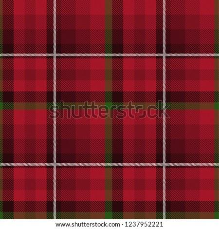 Tartan Pattern Scottish Traditional Fabric Seamless Green Stock ... 492a50dcf