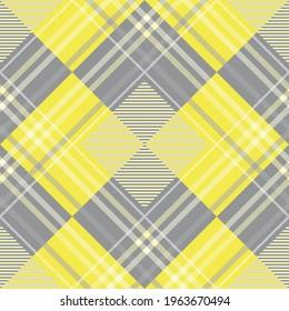 Tartan pattern,Scottish traditional fabric seamless,yellow tone.
