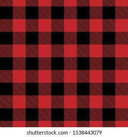 Tartan plaid black line fabric texture red background seamless pattern ,Scottish cage