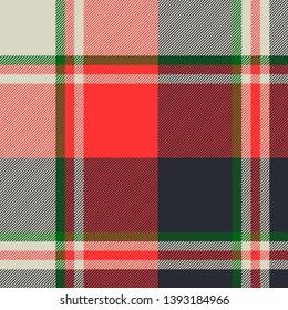 Tartan plaid fabric texture seamless pattern. Vector illustration.