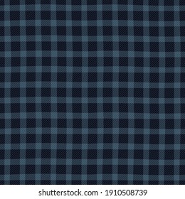 Tartan plaid motif pattern vintage blue seamless check background. Classic checkered manly fabric design wool twill texture. Simple to recolor all over print block for man polo t shirt, ladies dress.