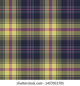 Tartan plaid pattern. Seamless ombre check plaid in purple, pink, and green for flannel shirt or other modern textile design.