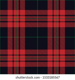 Tartan plaid red green line fabric texture violet background seamless pattern ,Scottish cage