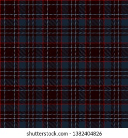 Tartan Plaid Scottish Seamless Pattern Background. Blue, Black and  Red  Color  Wrap. Flannel Shirt Patterns. Trendy Tiles Vector Illustration for Wallpapers.
