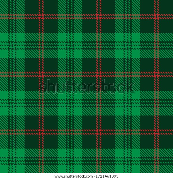Tartan plaid seamless pattern background. Flannel shirts , Vector illustration for wallpapers , Black green white line color fabric texture , Scottish cage .