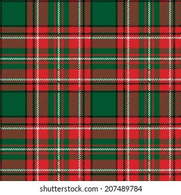Tartan, plaid Seamless pattern. Wallpaper,wrapping paper,textile.Retro style.Fashion illustration,vector.Traditional red and green scottish ornament,background.Christmas,new year  decor.