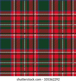 Tartan, plaid Seamless pattern. Wallpaper,wrapping paper,textile.Retro style.Fashion illustration,vector,background.Christmas,new year  decor.Traditional red,black,green green scottish ornament
