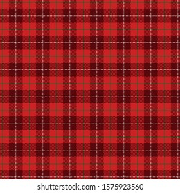 Tartan red  pattern.Texture for plaid, tablecloths, clothes, shirts, dresses, paper, bedding, blankets, quilts and other textile products. Vector illustration EPS 10ec