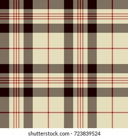Tartan Seamless Pattern Background. Black, Red and  Beige  Plaid, Tartan Flannel Shirt Patterns. Trendy Tiles Vector Illustration for Wallpapers.