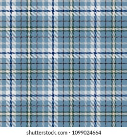 Tartan Seamless Pattern Background. Blue, Green, Black,  Beige  and  White  Color  Plaid.  Flannel Shirt Patterns. Trendy Tiles Vector Illustration for Wallpapers.