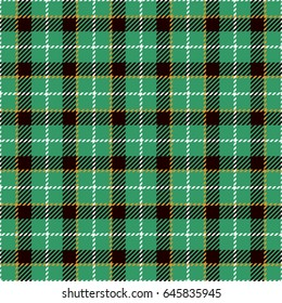Tartan Seamless Pattern Background. Green, Yellow,  Black  and  White Plaid, Tartan Flannel Shirt Patterns. Trendy Tiles Vector Illustration for Wallpapers.