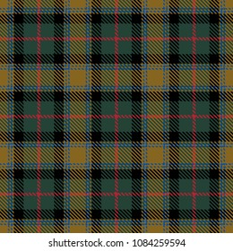 Tartan Seamless Pattern Background. Red, Green, Gold  and  Blue Color  Plaid.  Flannel Shirt Patterns. Trendy Tiles Vector Illustration for Wallpapers.