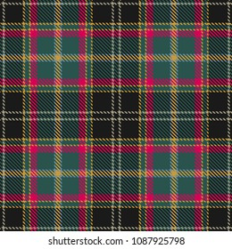 Tartan Seamless Pattern Background. Red, Black, Green, Blue, Gold  and  Beige  Color  Plaid.  Flannel Shirt Patterns. Trendy Tiles Vector Illustration for Wallpapers.