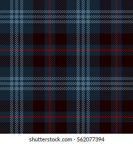 Tartan Seamless Pattern Background. Red, Black  and  Blue Plaid, Tartan Flannel Shirt Patterns. Trendy Tiles Vector Illustration for Wallpapers.
