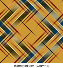 Tartan Seamless Pattern Background. Red, Black, Gold, Blue and  White Plaid, Tartan Flannel Shirt Patterns. Trendy Tiles Vector Illustration for Wallpapers.