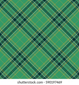 Tartan Seamless Pattern Background. Red, Green, Gold and  White Plaid, Tartan Flannel Shirt Patterns. Trendy Tiles Vector Illustration for Wallpapers.