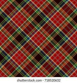 Tartan Seamless Pattern Background. Red, Black, Green, Blue, Gold  and  White  Plaid, Tartan Flannel Shirt Patterns. Trendy Tiles Vector Illustration for Wallpapers.